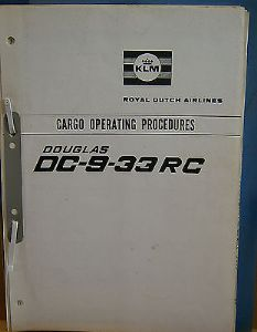 KLM Douglas DC-9-33RC Cargo Operating procedures - 1968